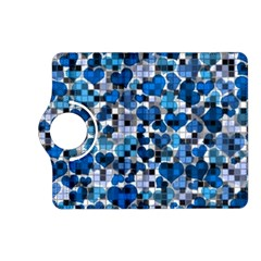 Hearts And Checks, Blue Kindle Fire HD (2013) Flip 360 Case