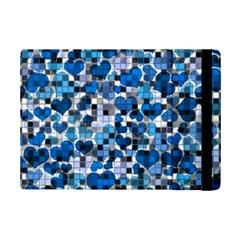 Hearts And Checks, Blue iPad Mini 2 Flip Cases