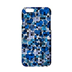 Hearts And Checks, Blue Apple iPhone 6/6S Hardshell Case