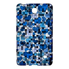 Hearts And Checks, Blue Samsung Galaxy Tab 4 (7 ) Hardshell Case