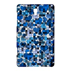 Hearts And Checks, Blue Samsung Galaxy Tab S (8.4 ) Hardshell Case