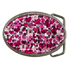 Hearts And Checks, Pink Belt Buckles