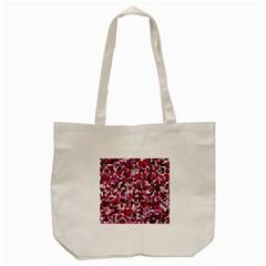 Hearts And Checks, Pink Tote Bag (Cream)