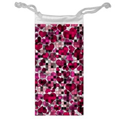 Hearts And Checks, Pink Jewelry Bags