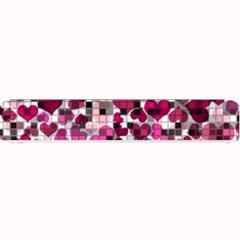 Hearts And Checks, Pink Small Bar Mats