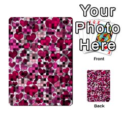 Hearts And Checks, Pink Multi-purpose Cards (Rectangle)