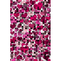 Hearts And Checks, Pink 5 5  X 8 5  Notebooks