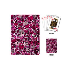 Hearts And Checks, Pink Playing Cards (Mini)