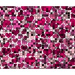 Hearts And Checks, Pink Deluxe Canvas 14  x 11  14  x 11  x 1.5  Stretched Canvas