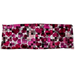 Hearts And Checks, Pink Body Pillow Cases Dakimakura (Two Sides)