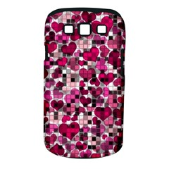 Hearts And Checks, Pink Samsung Galaxy S III Classic Hardshell Case (PC+Silicone)