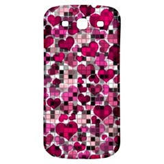 Hearts And Checks, Pink Samsung Galaxy S3 S III Classic Hardshell Back Case