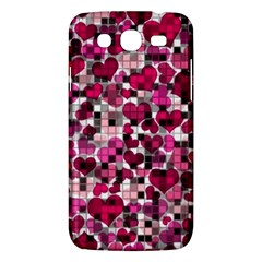 Hearts And Checks, Pink Samsung Galaxy Mega 5.8 I9152 Hardshell Case