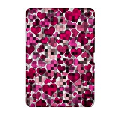 Hearts And Checks, Pink Samsung Galaxy Tab 2 (10.1 ) P5100 Hardshell Case