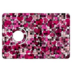 Hearts And Checks, Pink Kindle Fire HDX Flip 360 Case