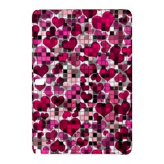 Hearts And Checks, Pink Samsung Galaxy Tab Pro 12.2 Hardshell Case