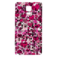 Hearts And Checks, Pink Galaxy Note 4 Back Case