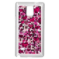 Hearts And Checks, Pink Samsung Galaxy Note 4 Case (white)