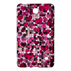 Hearts And Checks, Pink Samsung Galaxy Tab 4 (7 ) Hardshell Case