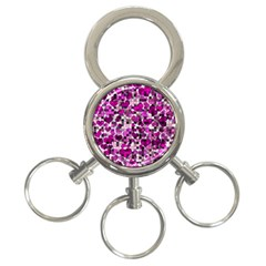 Hearts And Checks, Purple 3-Ring Key Chains