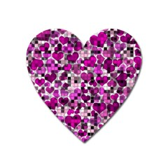 Hearts And Checks, Purple Heart Magnet