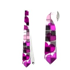 Hearts And Checks, Purple Neckties (One Side)