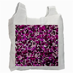 Hearts And Checks, Purple Recycle Bag (Two Side)