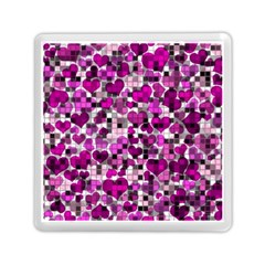 Hearts And Checks, Purple Memory Card Reader (Square)