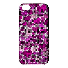 Hearts And Checks, Purple Apple iPhone 5C Hardshell Case