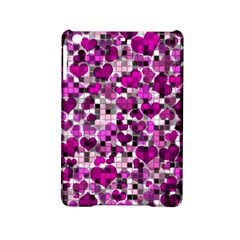 Hearts And Checks, Purple iPad Mini 2 Hardshell Cases