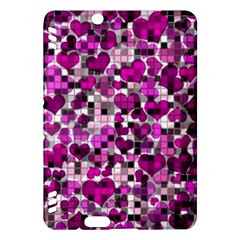 Hearts And Checks, Purple Kindle Fire HDX Hardshell Case