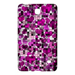 Hearts And Checks, Purple Samsung Galaxy Tab 4 (7 ) Hardshell Case