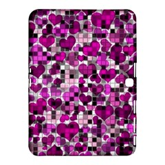 Hearts And Checks, Purple Samsung Galaxy Tab 4 (10.1 ) Hardshell Case