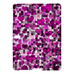 Hearts And Checks, Purple Samsung Galaxy Tab S (10 5 ) Hardshell Case
