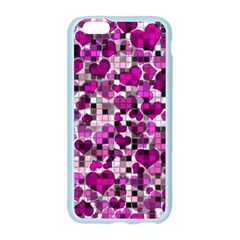 Hearts And Checks, Purple Apple Seamless iPhone 6 Case (Color)