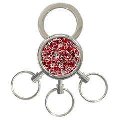 Hearts And Checks, Red 3-Ring Key Chains
