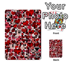 Hearts And Checks, Red Playing Cards 54 Designs
