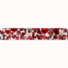 Hearts And Checks, Red Small Bar Mats