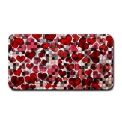Hearts And Checks, Red Medium Bar Mats