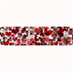 Hearts And Checks, Red Large Bar Mats