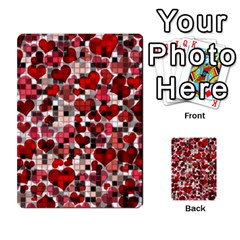 Hearts And Checks, Red Multi-purpose Cards (Rectangle)