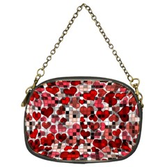Hearts And Checks, Red Chain Purses (One Side)