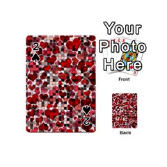 Hearts And Checks, Red Playing Cards 54 (Mini)