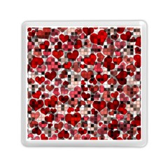 Hearts And Checks, Red Memory Card Reader (Square)
