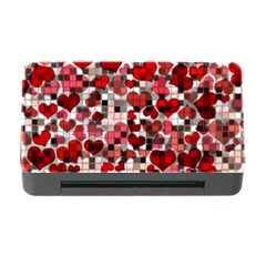 Hearts And Checks, Red Memory Card Reader With Cf
