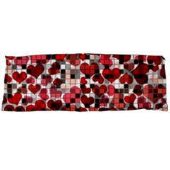 Hearts And Checks, Red Body Pillow Cases Dakimakura (Two Sides)