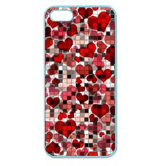 Hearts And Checks, Red Apple Seamless iPhone 5 Case (Color)