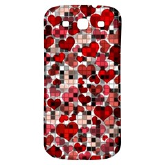 Hearts And Checks, Red Samsung Galaxy S3 S III Classic Hardshell Back Case