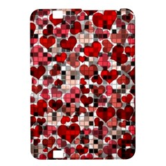 Hearts And Checks, Red Kindle Fire HD 8.9