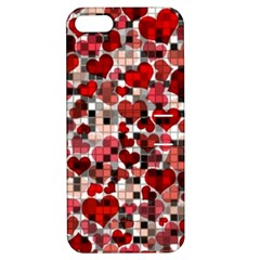 Hearts And Checks, Red Apple iPhone 5 Hardshell Case with Stand